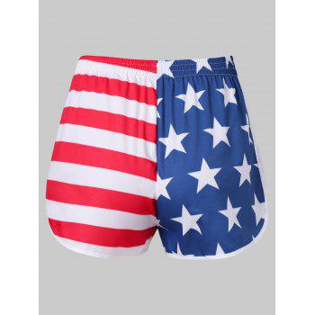 American Flag Workout Shorts - FIRE ENGINE RED 2XL