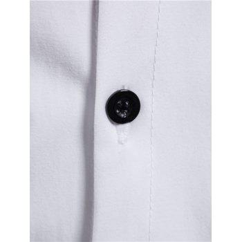 Reversible Style Button Up Turn Down Collar Shirt - WHITE 2XL