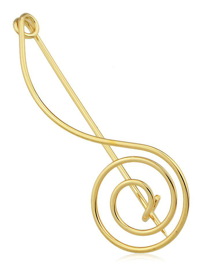 Alloy Musical Note Brooch - GOLD