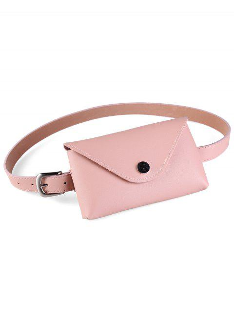 Vintage Fanny Pack Artificial Leather Waist Belt - PINK