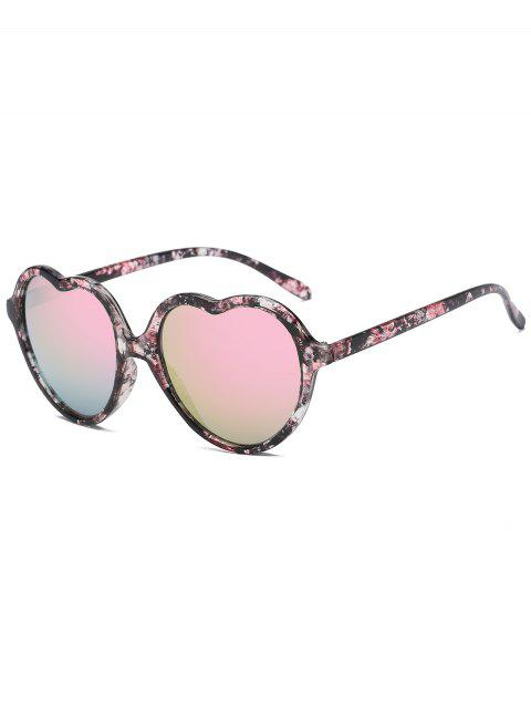 Anti Fatigue Heart Frame Travel Beach Driving Sunglasses - PINK