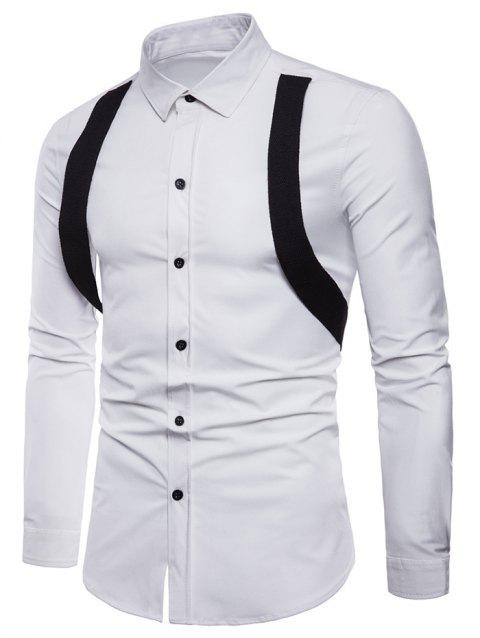 Casual Shirt with Gallus Decoration - WHITE XL
