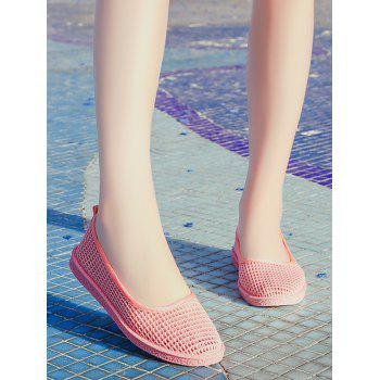 Mesh Slip On Casual Flat Heels - LIGHT PINK 35