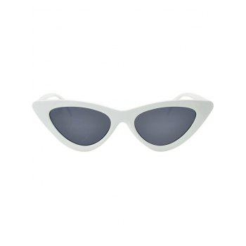 Anti UV Plastic Frame Flat Lens Sunglasses - PLATINUM