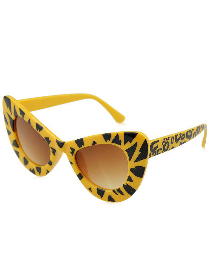 Plastic Frame Sun Shades Catty Sunglasses with Glasses Box Bag - LEOPARD