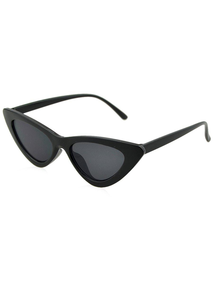 Anti UV Plastic Frame Flat Lens Sunglasses -