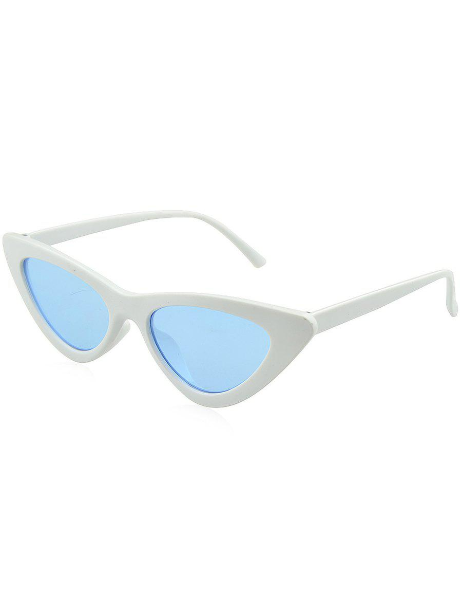 Anti UV Plastic Frame Flat Lens Sunglasses - ROBIN EGG BLUE