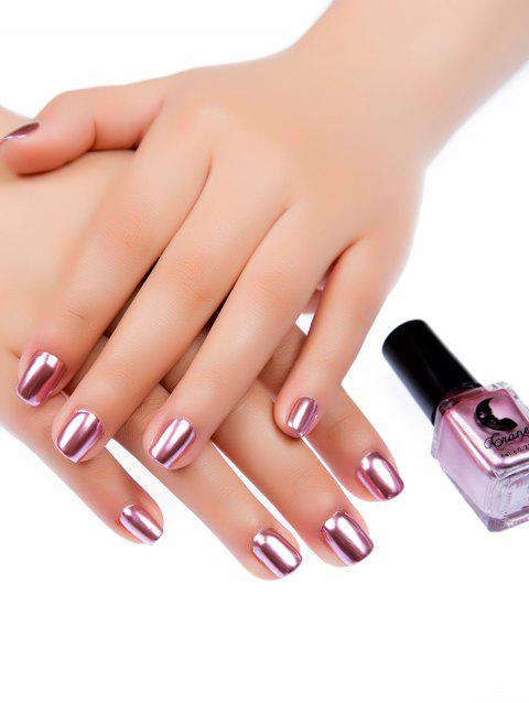 Mirror Effect Glitter Nail Polish Metallic Chrome Art Gel Pink Daisy