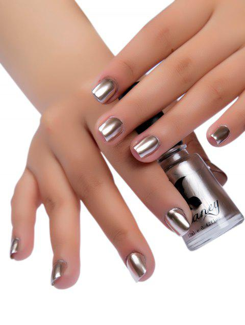 Mirror Effect Glitter Nail Polish Metallic Chrome Nail Art Polish Gel - CHAMPAGNE