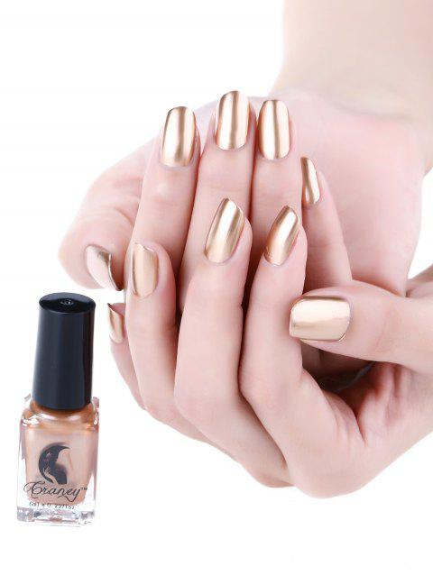 Mirror Effect Glitter Nail Polish Metallic Chrome Nail Art Polish Gel - BRONZE
