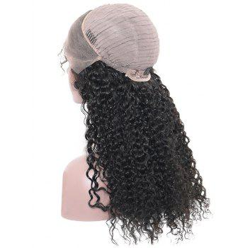 Long Side Fringe Fluffy Curly Lace Front Synthetic Wig - BLACK 26INCH