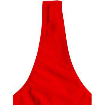 Cut Out Strappy One Piece Swimsuit - RED M