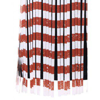 American Flag Fringe Tank Top - multicolor XL