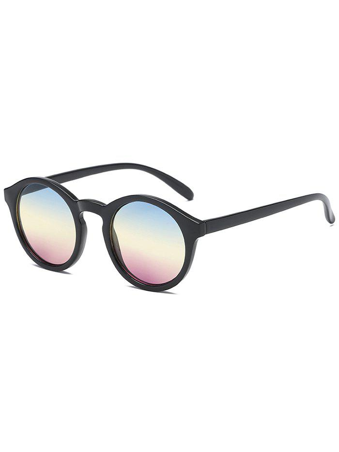 Anti Fatigue Flat Lens Sun Shades Sunglasses - multicolor A