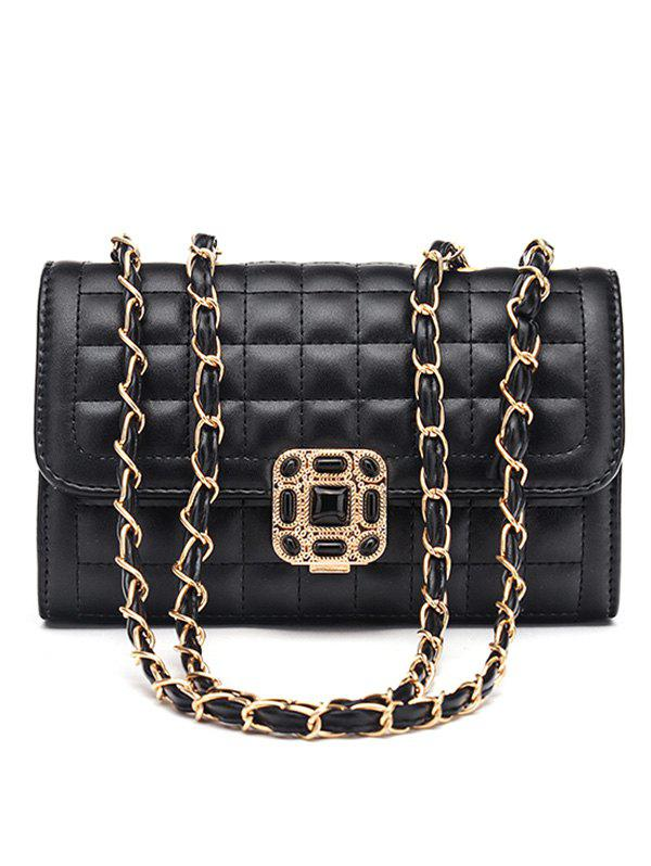 Double Flap Metal Chain Classic Crossbody Bag