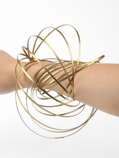 Kinetic Spring 3D Sculpture Flowtoys - GOLD