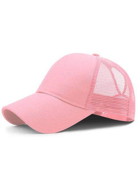 Soft Solid Color Mesh Breathable Sunscreen Hat - LIGHT PINK