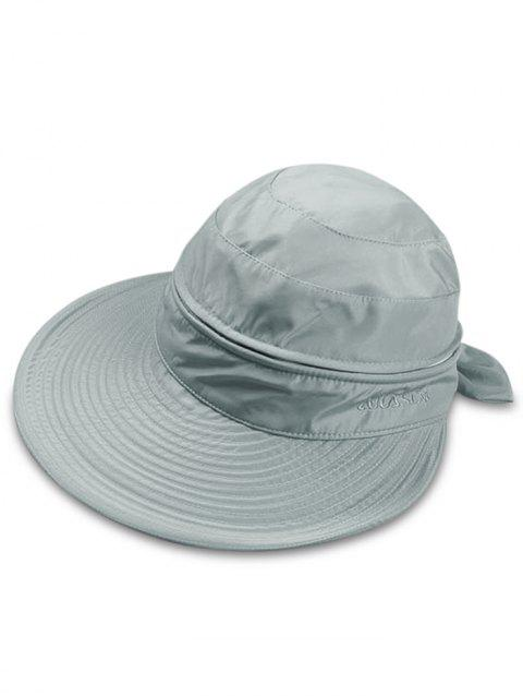 Multifunctional Removable Top Cover Folding Wide Brim Sun Hat - BLUE GRAY
