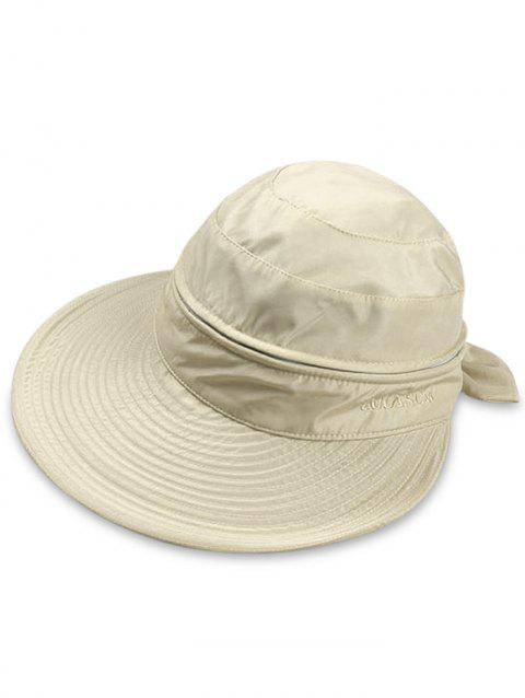 Multifunctional Removable Top Cover Folding Wide Brim Sun Hat - SAND