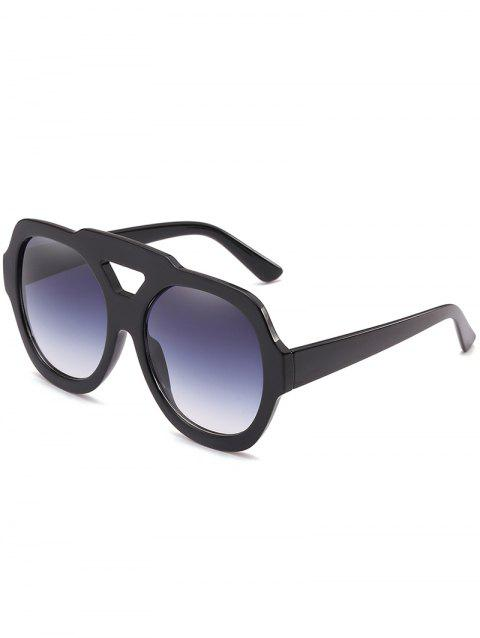 Oudoor Hollow Out Plastic Frame Oversized Sunglasses - BLACK
