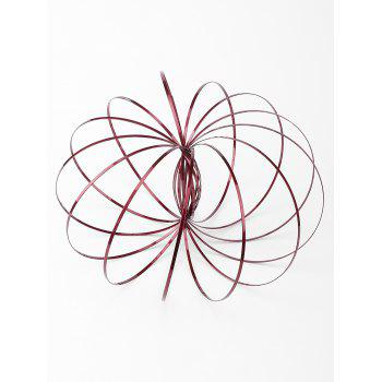 Kinetic Spring 3D Sculpture Flowtoys - CHESTNUT RED