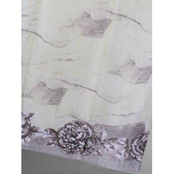 Soft Flowers Pattern Embellished Scarf - GRAY CLOUD