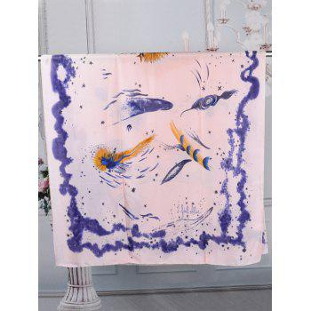 Oil Painting Decorative Spring Fall Scarf - LIGHT PINK