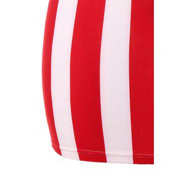 Plus Size American Flag Mini Strappy Dress - multicolor 5X