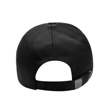 Swan Embroidered Breathable Sunscreen Hat - BLACK