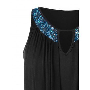Sequin Embellished Plus Size Bodycon Dress - BLACK 5X