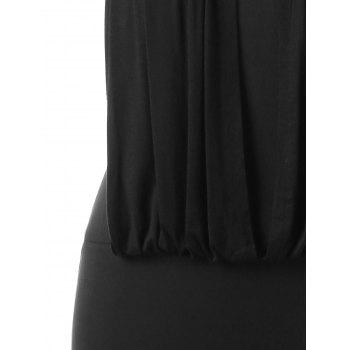 Sequin Embellished Plus Size Bodycon Dress - BLACK L