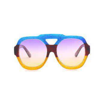 Oudoor Hollow Out Plastic Frame Oversized Sunglasses - YELLOW