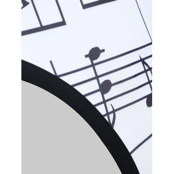 Musical Notes One Piece Backless Swimwear - WHITE S