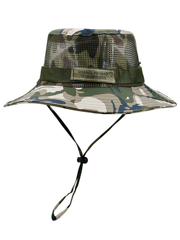 Lightweight Camouflage Pattern Mesh Bucket Hat -
