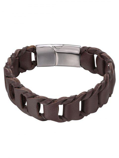 Hollow Out Weaving Style Bracelet - BROWN