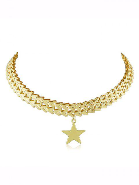 Alloy Star Pendant Necklace - GOLD