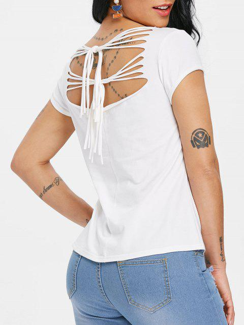 Ripped Cut Out Butterfly Print Graphic T-shirt