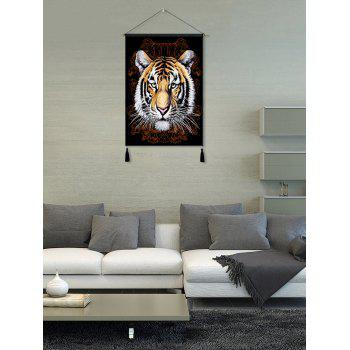 Tiger Head Print Wall Art Tassel Hanging Painting - multicolor 1PC:18*26 INCH(NO FRAME)