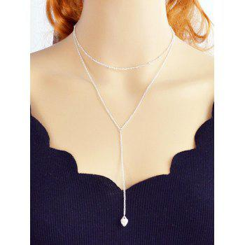 Alloy Chain Layered Necklace - SILVER