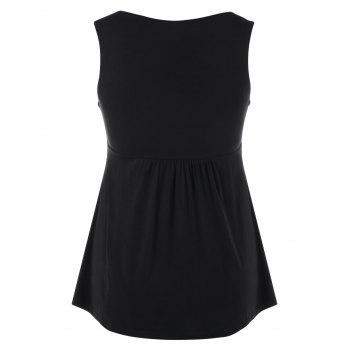 Sequines Embellished Empire Waist Tank Tops - BLACK L