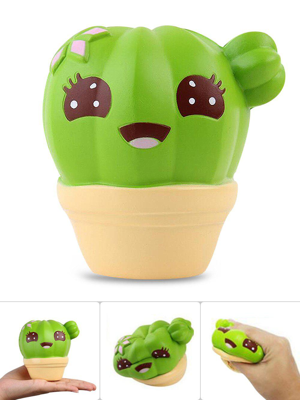 Cartoon Cactus Slow Rising PU Squishy Toy - YELLOW
