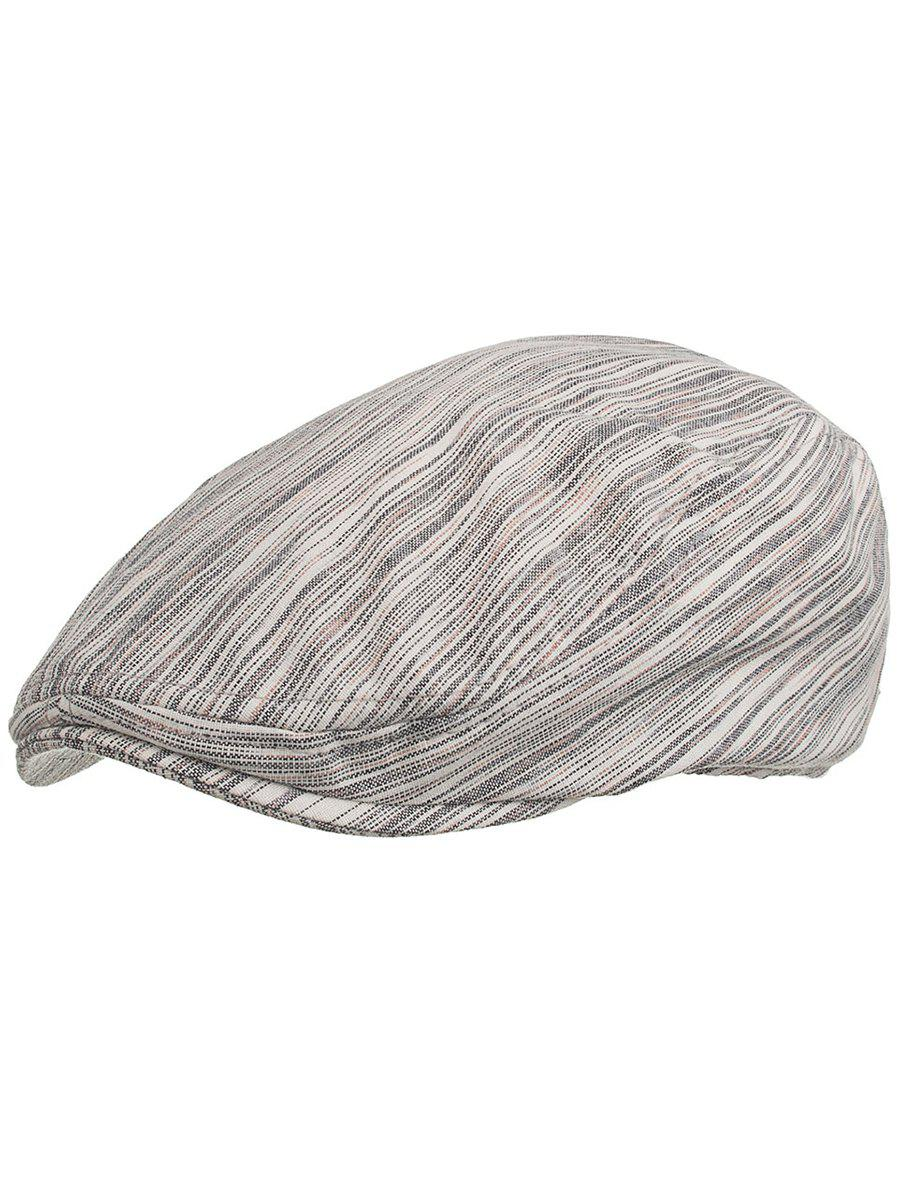 Outdoor Stripe Pattern Decorative Jeff Hat - WHITE