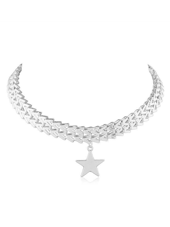 Alloy Star Pendant Necklace - SILVER