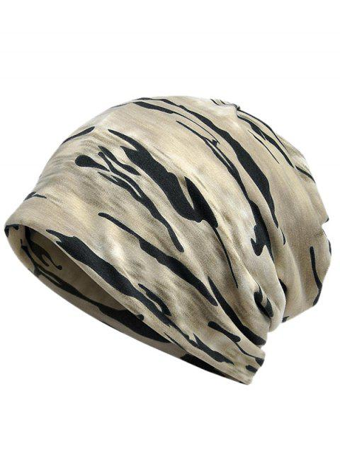 Outdoor Camouflage Pattern Baggy Beanie - LIGHT KHAKI