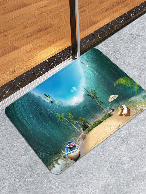 Beach Scenery Print Runner Rugs Doormat - multicolor W16 INCH * L24 INCH
