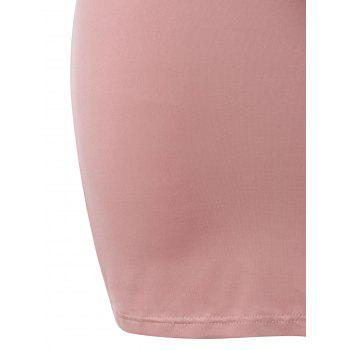 Plus Size Open Shoulder Capelet Nursing Dress - LIGHT PINK L