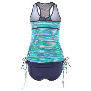 Space Dyed Empire Waist Racerback Tankini - GREEN L