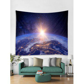 Planetary Light Print Wall Hanging Decor Tapestry - multicolor W91 INCH * L71 INCH