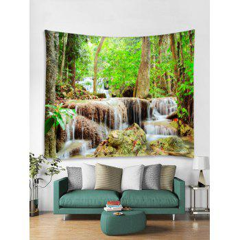 Natural Forest Stream Print Wall Decor Tapestry - multicolor W71 INCH * L71 INCH