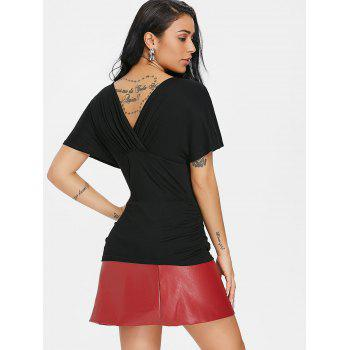 Cross Back Short Sleeve T-shirt - BLACK 2XL